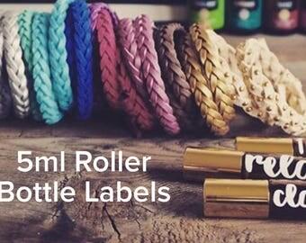 5 ml Essential Oil Roller Bottle Labels - 5ml Bottles - LABELS ONLY -