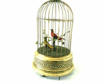 Collectible Bontems Reuge Novelty Musical Birdcage Handwind (3051)