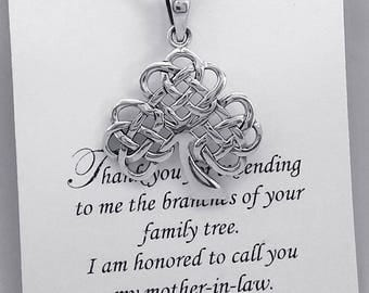Sterling Silver Tree of Life Necklace, Mother in Law Gift, Tree of Life Necklace, Mother of the Groom Gift, Gift for Grandmother