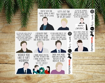 LOVE ACTUALLY Quote PLANNER Stickers