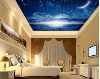 stars sky wallpaper, sky wallpaper, stars night, moon sky wallpaper, night cloud, stars sky ceiling, sky ceiling wallpaper, stars wallpaper