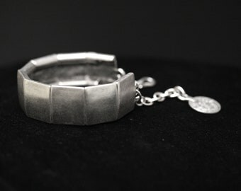 Antique Silver Plated Pewter Jewelry Bracelet 3033