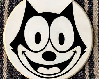 Felix The Cat Painting on Wood