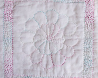 Hand Quilted Cushion Front Kit - Summer