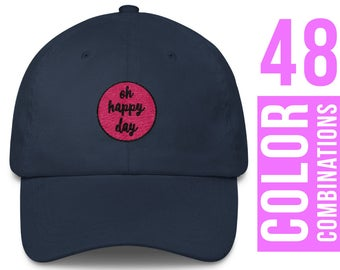 Oh Happy Day Hat Oh Happy Day Cap Oh Happy Day Baseball Hat Oh Happy Day Trucker Hat Oh Happy Day Embroidered Hat Oh Happy Day Womens Hat