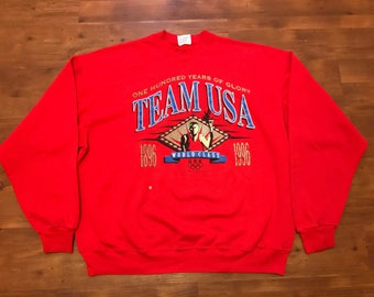 Vintage Team USA Olympic Crewneck sweater XL 1996' Rare Good condition 90's sweater Olympics shirt Big graphics