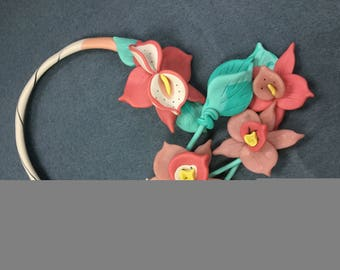 Clay flower necklace