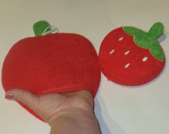 Baby Washcloths Set of 2 berry,sponge for the body