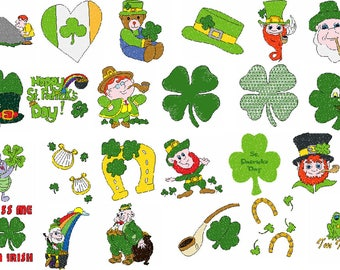 St Patrick's Day Embroidery Designs