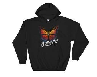 Butterfly Wings Hoodie Hooded Sweatshirt Vintage Style