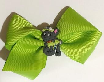 Green Paw Patrol Hair Bow