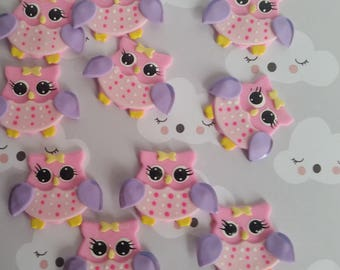 Owl Birthday Decorations, 12 Owls Cupcake Toppers, Owl First Birthday Favors, Owl Birthday Party Theme, Pink Owl Baby Shower Decoration