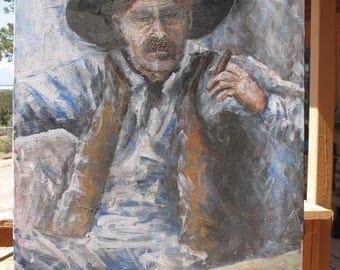 Smoke Break original painting by C. Gaer Barlow