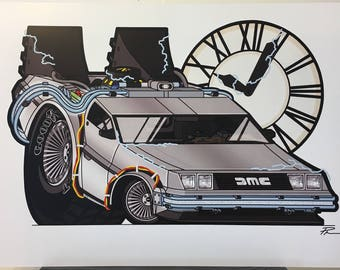 DeLorean - 12x18