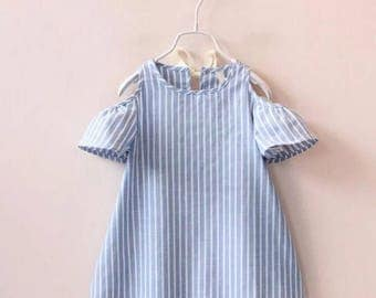 Girl's off shoulder dress