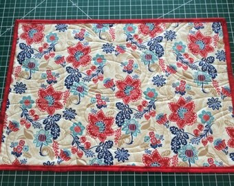 Red Floral Placemats
