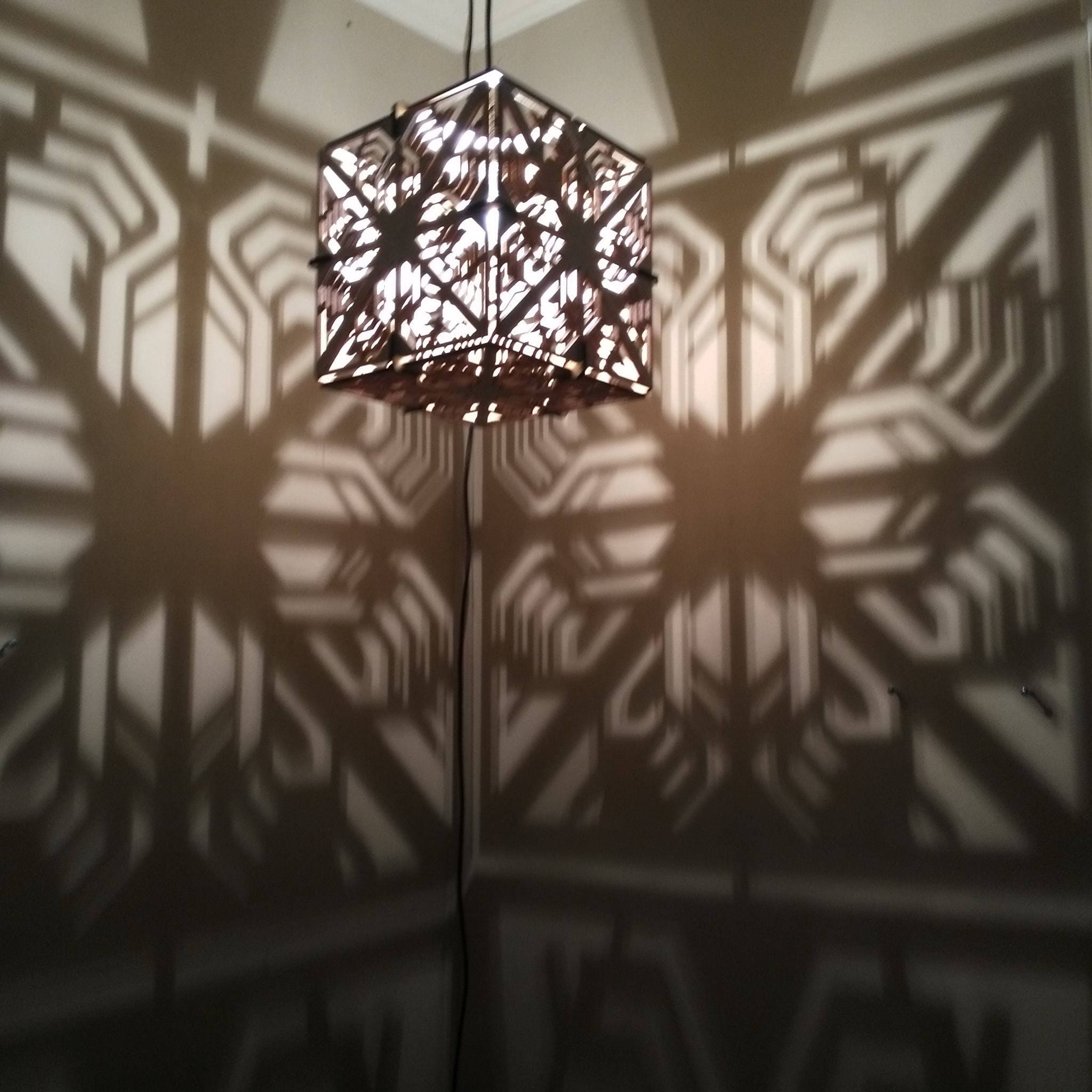 CUBE Lamp Hanging Ceiling Pendant Shadow