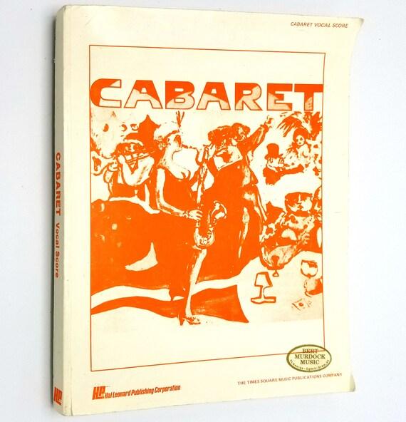 Cabaret Vocal Score by John Kander & Fred Ebb 1968 Hal Leonard - Musical - Sheet Music Song Book