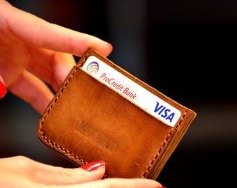 Wallet, Minimalist Credit Card Wallet, Slim Card Case, Leather Wallet