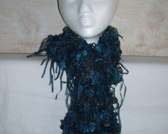 Fancy black blue scarf