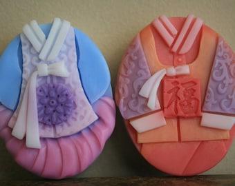 Korean traditional 'Hanbok' Couple soap