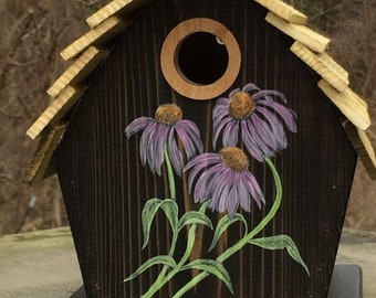 "ArtisTree ""Purple Coneflower"" Bird House"