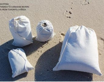 "50x(3"" by 5"") x Natural Cotton muslin drawstring bags"