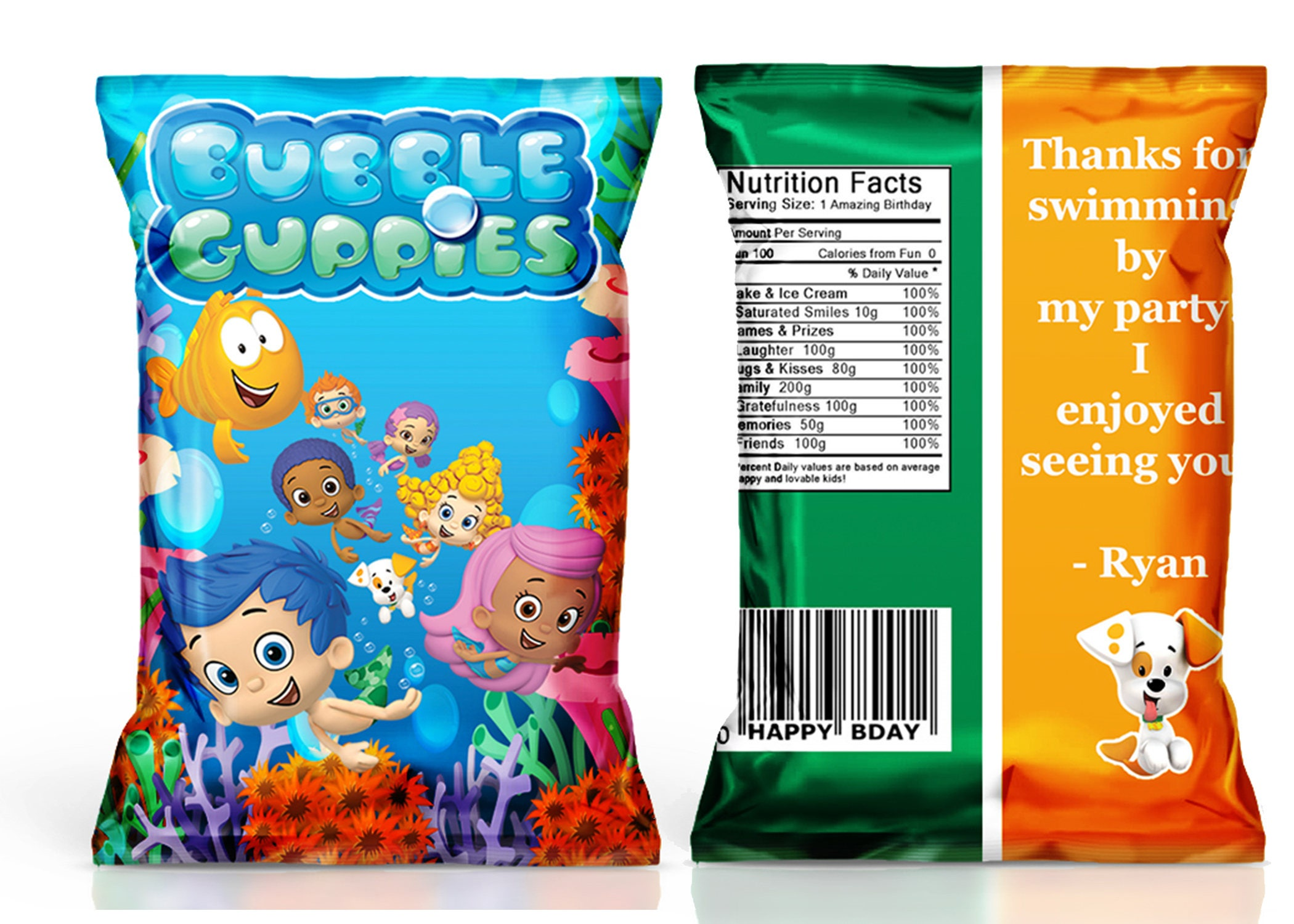 bubble guppies chip bag bubble guppies birthday party bubble