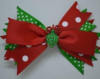 Christmas Ornament - Hair Bow Clip - 10cm