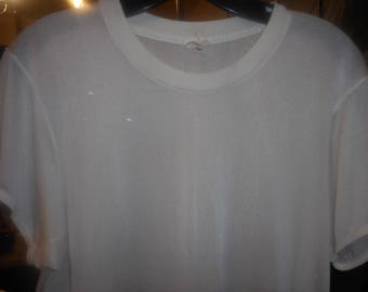Very Vintage T-Shirt    Very SHEER    Size Med/Large   QIANA  From 50's or Earlier