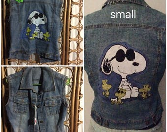 Unique Snoopy Denim vest