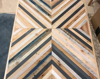 X-Pattarn Reclaimed Wood Wall Art Wood Art By Wood & Broome