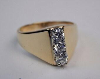 14k gold .50 Ctw diamond  ring #10436