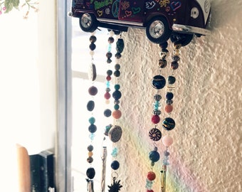 1960's Volkswagen Windchime With Crystal Beads!