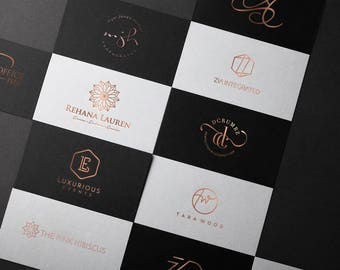 Custom logo design, Brand design, Logo design package, Professional logo, Luxury logo, Brand identity design, Rose gold logo design package