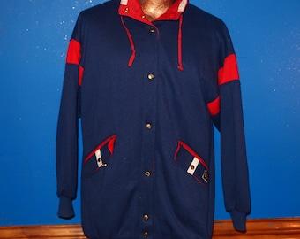 Vintage 80s Casual Club Reversible Jacket