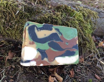 Handmade Tallow Soap- Camouflage - Oakmoss
