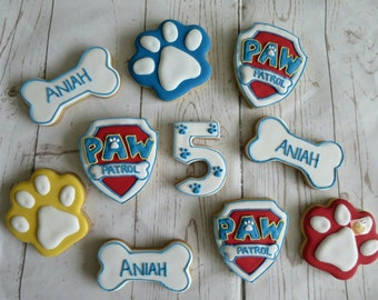 Paw patrol biscuits/cookies