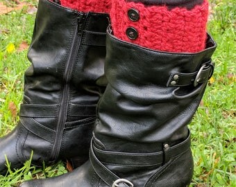Buttoned up Boot Cuffs