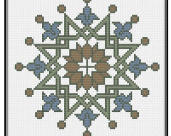 Symmetrical Star (PDF) Cross Stitch Pattern