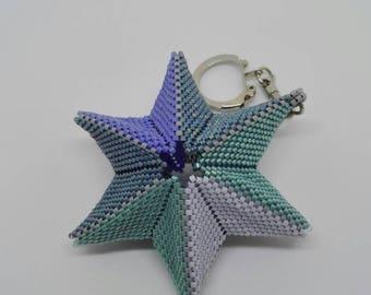 Star woven in beads Miyuki