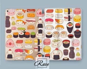 Kawaii sushi iPad mini 4 sleeve case iPad air 9.7 cover iPad 2017 case 3 iPad pro case stand 10.5 Sushi clipart iPad 2 smart case clear 12.9