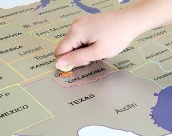 Scratch Off Map Etsy - World map usa