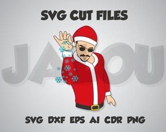 Salt Bae Santa, Merry Christmas, Funny, Ugly, SVG cut file, dxf, eps, ai, cdr, png transparent background