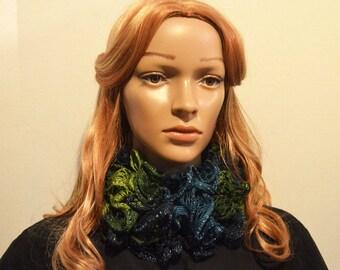 Scarves for Women, Sashay Scarves, Ruffle Scarves,Fashion Scarves,Green Scarves,Winter Scarves,Ladies Scarves, Women's Scarf, Rainforest Mix