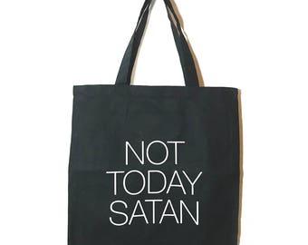 Not Today Satan Tote/Bag