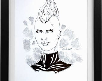 Ink Drawing of Storm