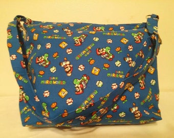 Super Mario World Large zippered slouch/hobo bag