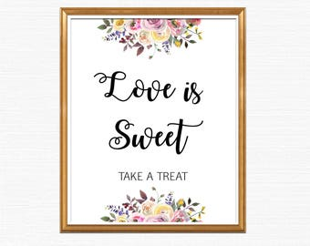 Love is Sweet Sign, Love is Sweet Take a Treat Sign, Love is Sweet Wedding Sign, Printable Love is Sweet Sign, Love is Sweet Instant BL2