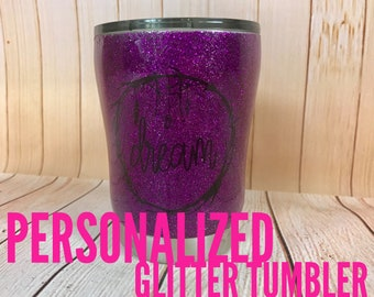 Personalized Giltter Tumbler